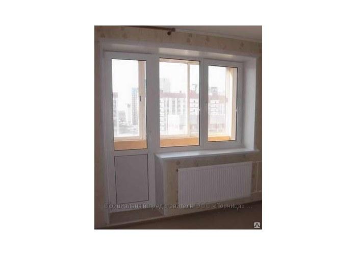 Балконный блок (дверь + окно) купить по цене 10000.00 в комп.